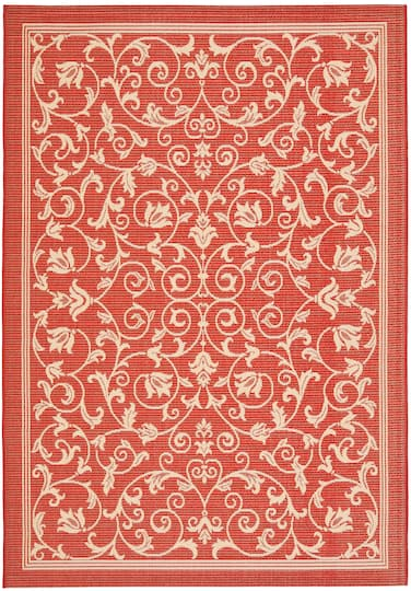 Courtyard Floral Scroll 4 X 5 7 Area Rug