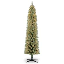 pre lit pencil cashmere artificial christmas tree clear lights by ashland - Michaels Christmas Trees Artificial
