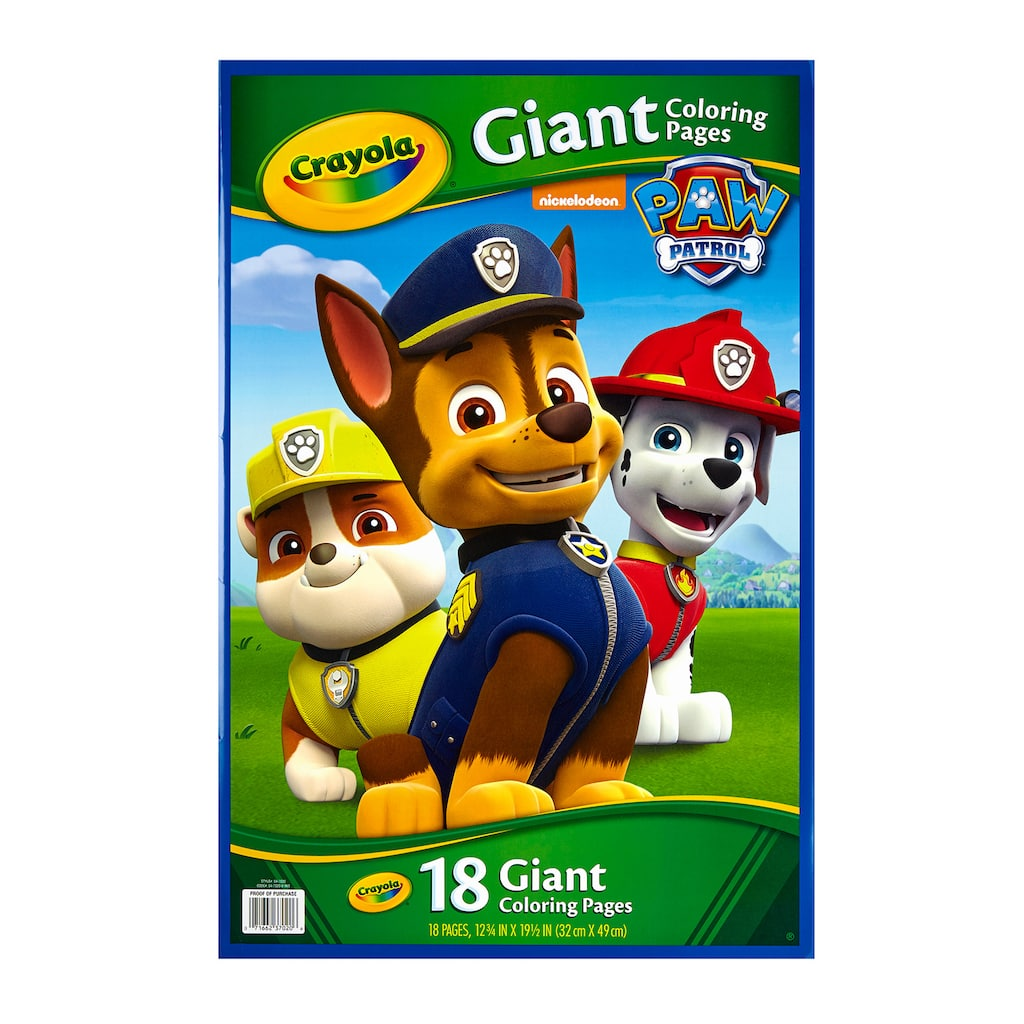 Shop For The Crayola Paw Patrol Giant Coloring Pages At Michaels