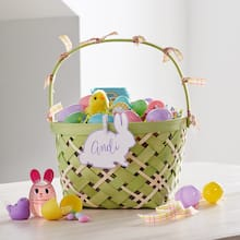 Personalized Easter Basket with Ribbon, medium