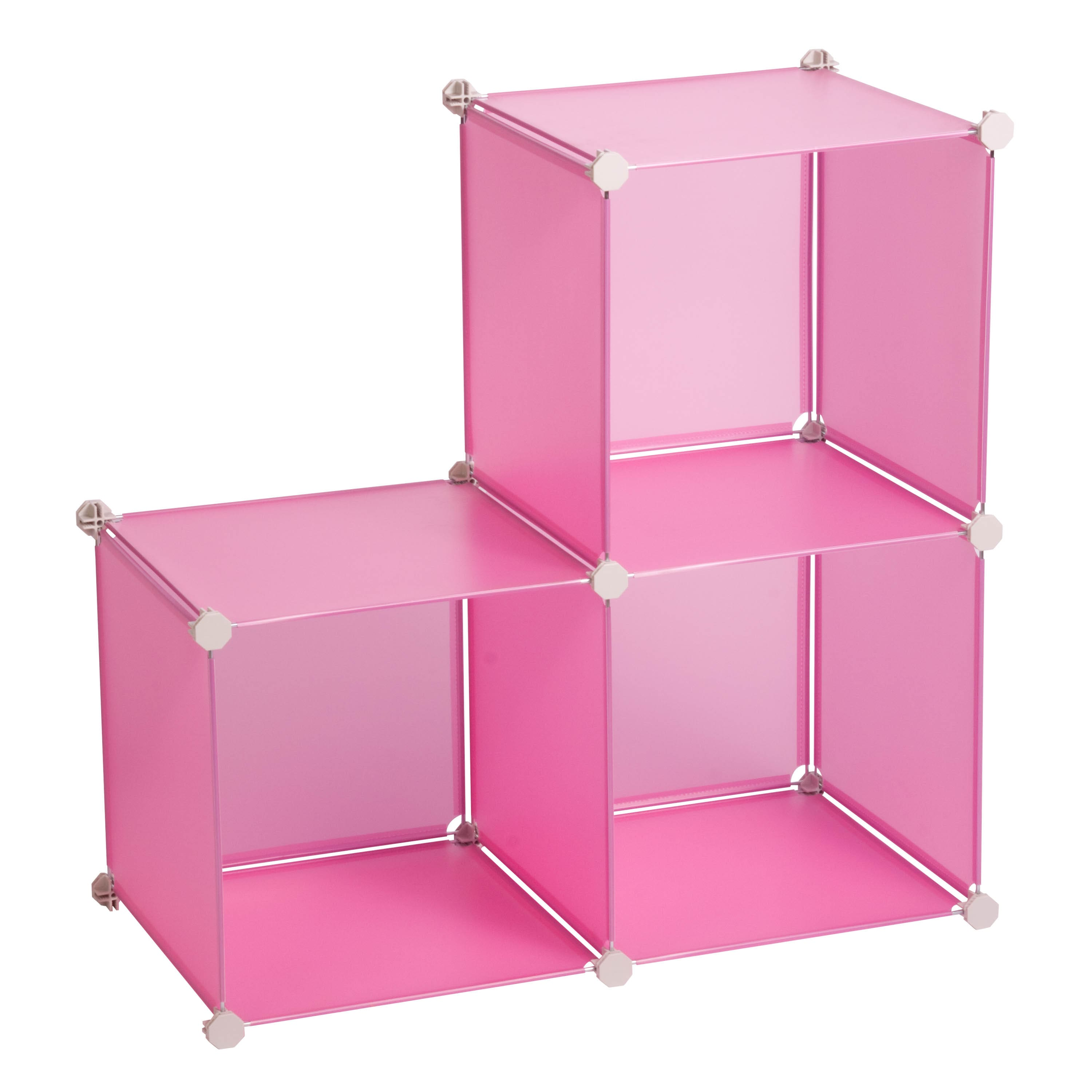 Honey Can Do Pink Storage Cubes, 3 Pack. Img. Img Img