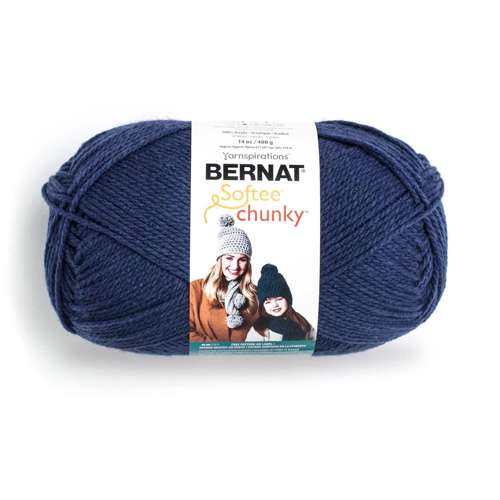 Solids-grey Ragg Bernat Chunky Big Ball Yarn