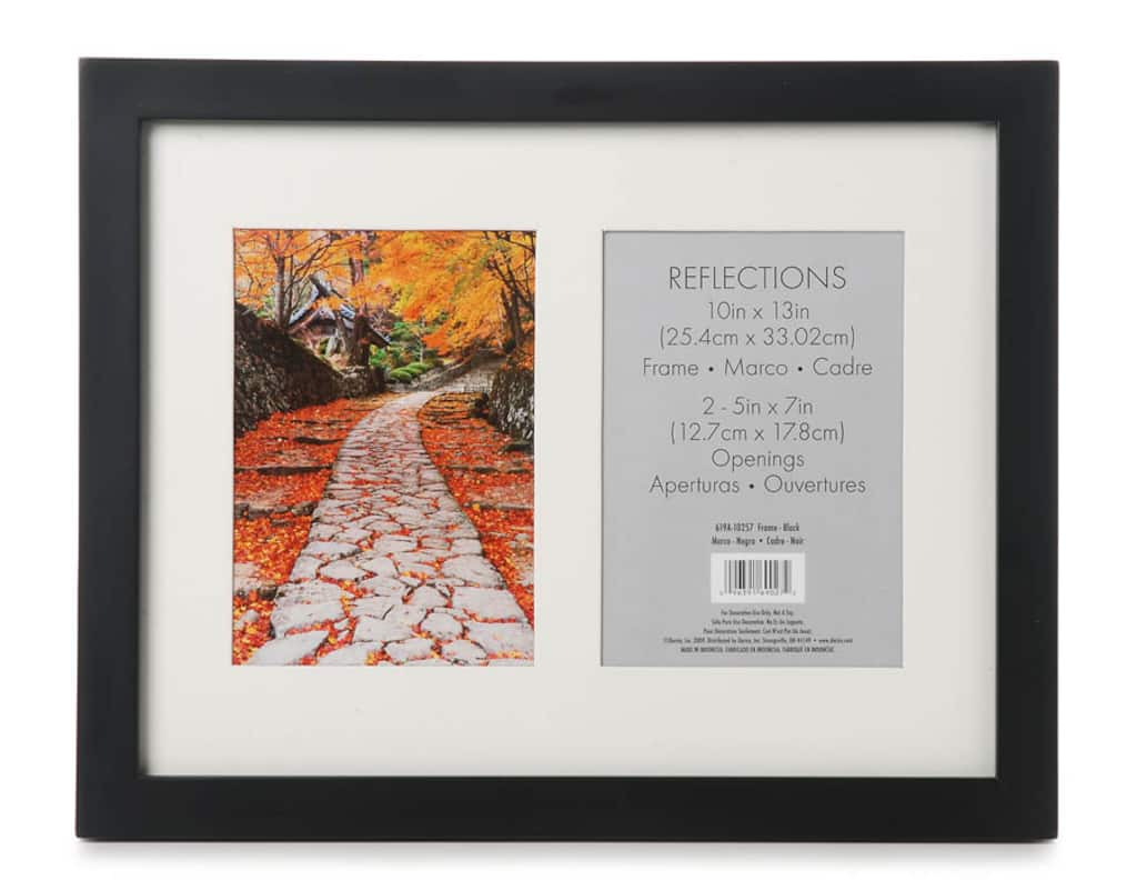 2-Opening Flat Collage Picture Frame: Black, 5 x 7 inches