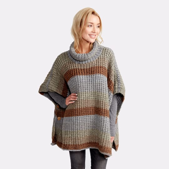 ef8cada2d Caron® Tea Cakes™ Cozy Up Knit Poncho