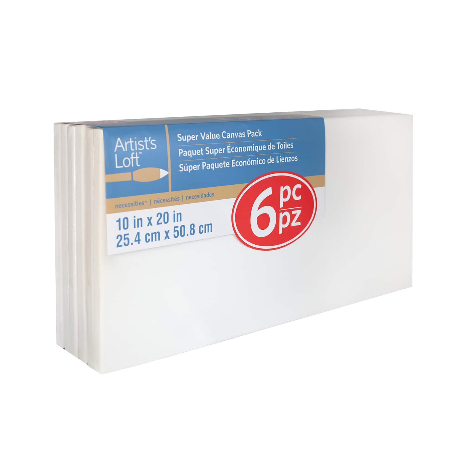 """8×10/"""" Stretched White Cotton Canvas 10 pack Acrylic Oil Multi media Value pac"""