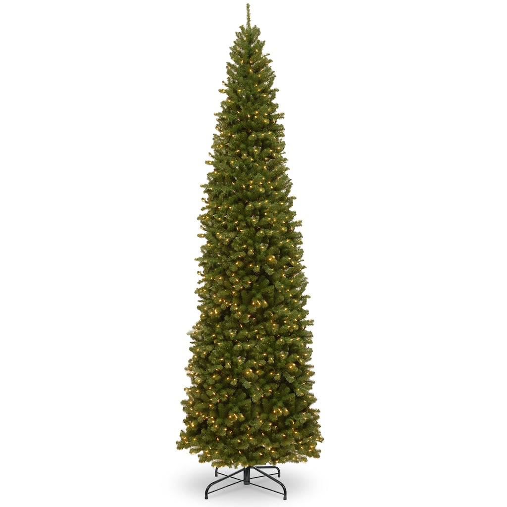 16 Foot Christmas Tree: 16ft. Pre-Lit North Valley™ Spruce Pencil Slim Artificial