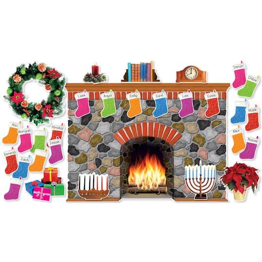 Hearth Boards: Purchase The Scholastic® Holiday Hearth Bulletin Board Set