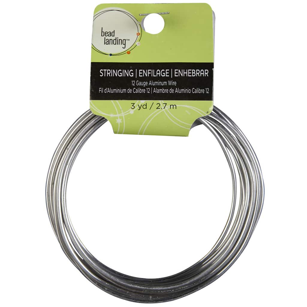 Craft Wire Jewelry Wire 12 Gauge Round Black Aluminum Jewelry Wire 3 Yards