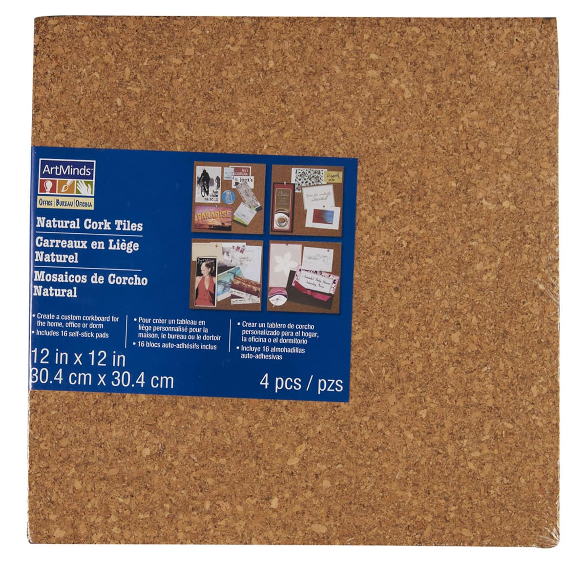 Cork board tiles Square Of Sizes The Learner Observer Cork Tiles By Artminds