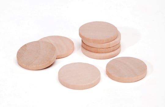 Small Unfinished Wood Circles 1 Inch 8 Pack