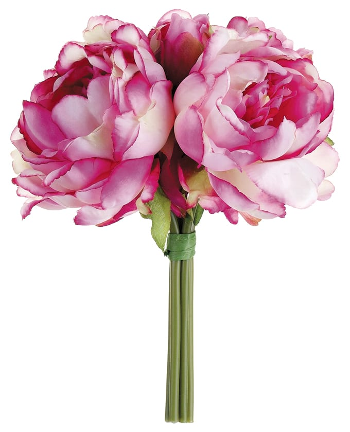 Find The Dark Pink White Peony Bouquet At Michaels Com