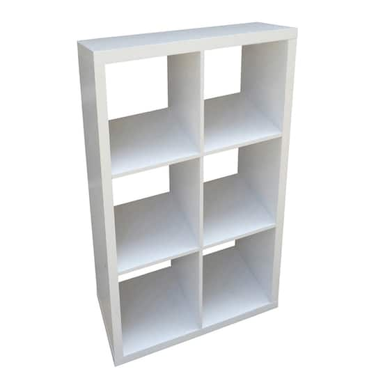 Recollections™ Craft Storage System 6 Cube Honeycomb, White
