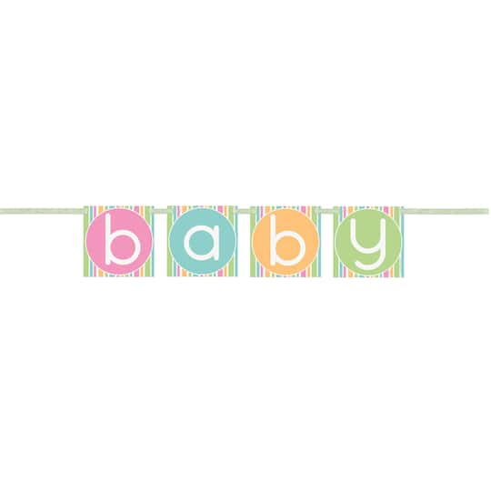 Pastel Baby Shower Pennant Banner Baby Shower Decorations
