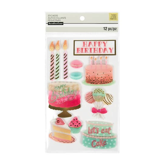 Phenomenal Buy The Birthday Cake Fancy 3D Stickers By Recollections At Michaels Funny Birthday Cards Online Aboleapandamsfinfo