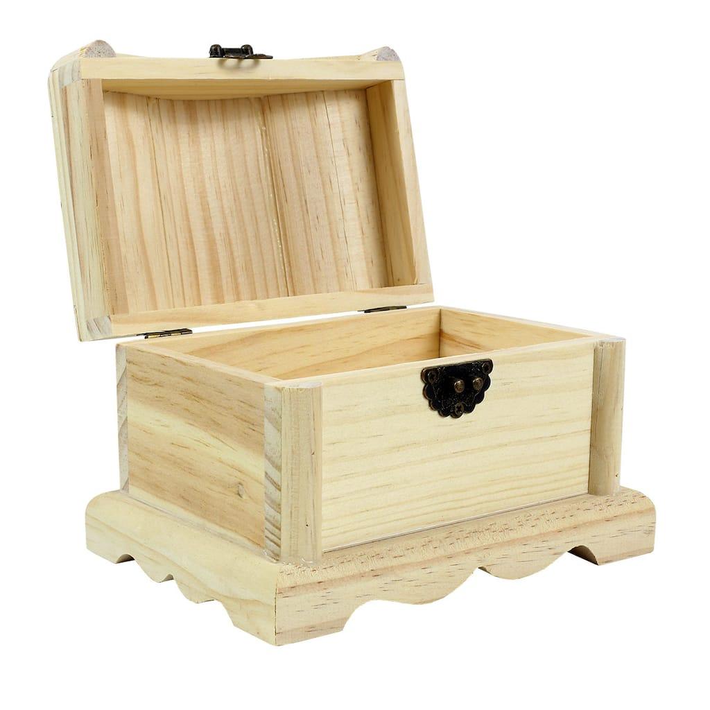 Artminds Wood Treasure Chest 6 5 Quot X 4 75 Quot X 5 Quot