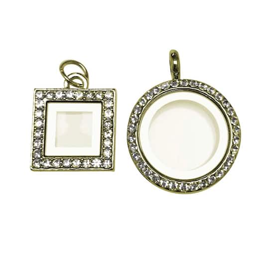 Find the Blue Moon® Beads Story Lockets Gold Frame & Locket at Michaels