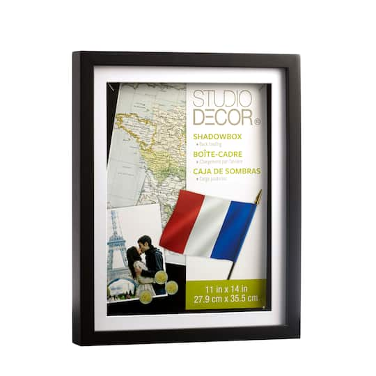 Shop For The Black Shadow Box 11 X 14 With 9 X 12 Mat By Studio Décor At Michaels