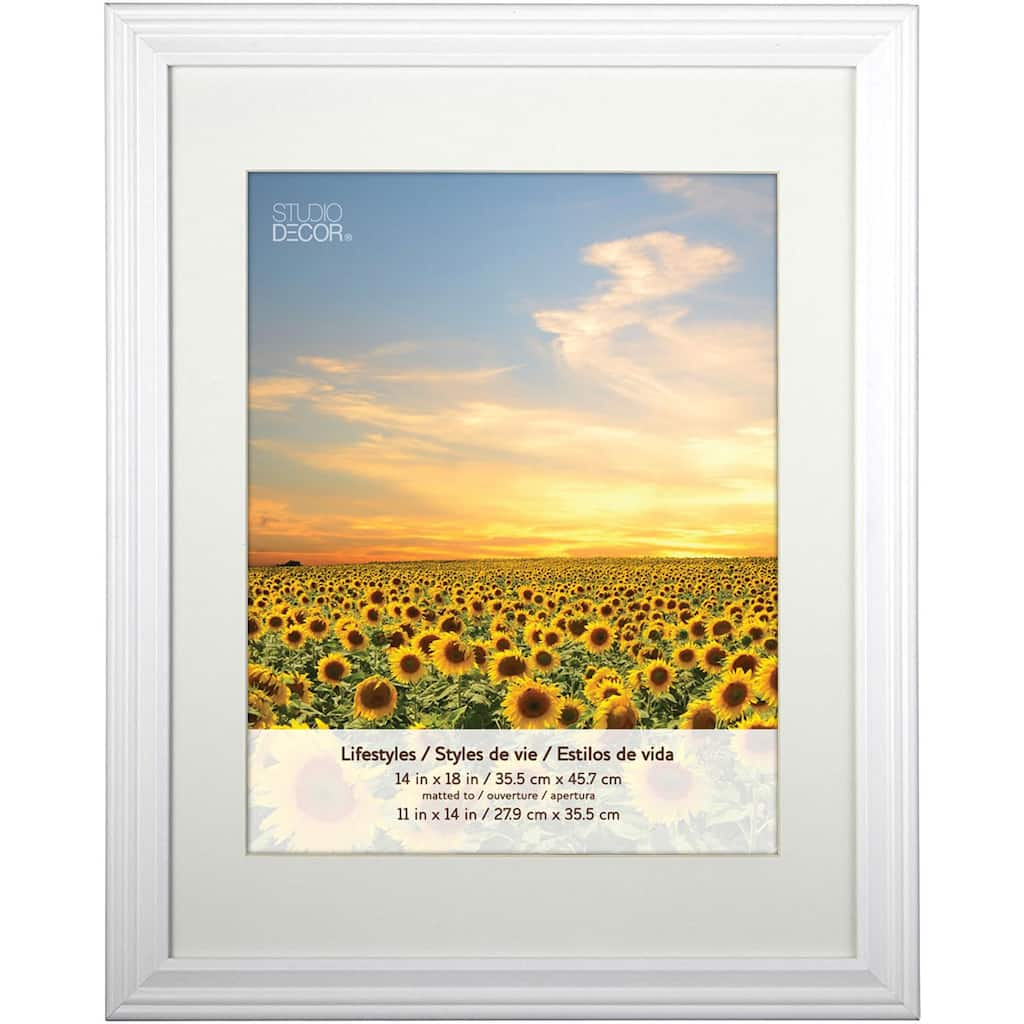 Shop for the 2 White Frames With Mat, 11\