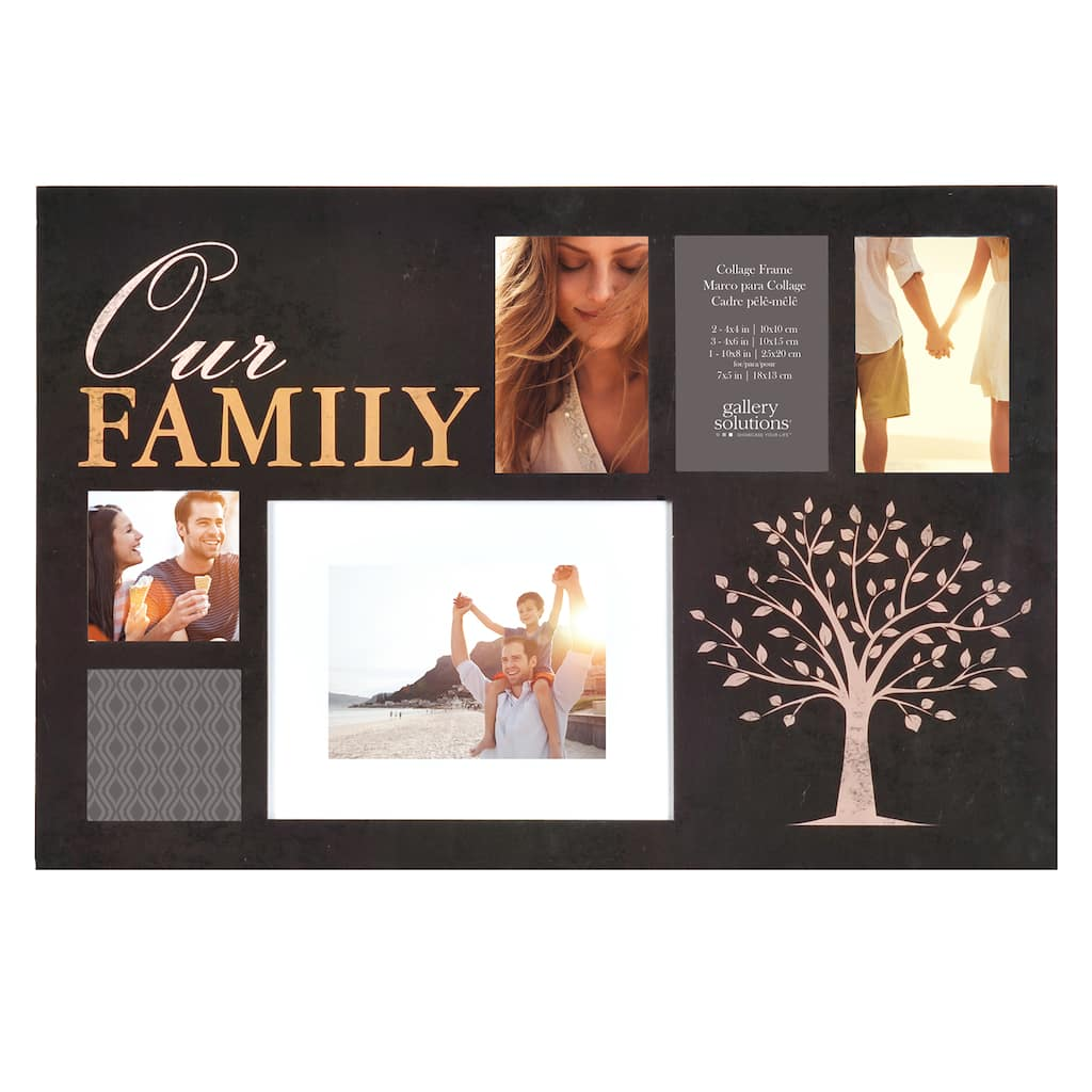 Shop for the \'Our Family\' 6-Opening Collage Frame By Gallery ...