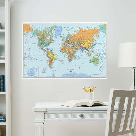 Shop for the WallPops® World Map at Michaels
