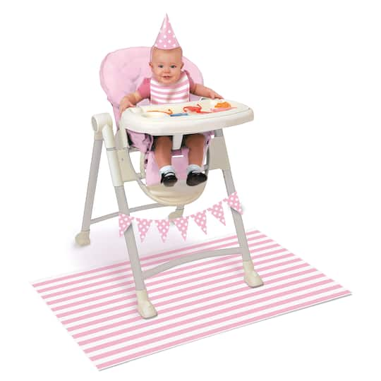 Pink 1st Birthday High Chair Decorating Kit Img