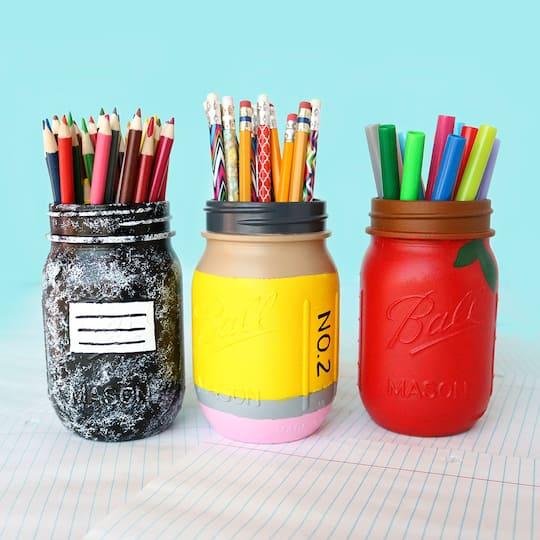 School Mason Jars