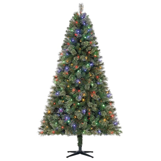 By the 7.5ft. Pre-Lit Full Augusta Cashmere Pine Artificial ...