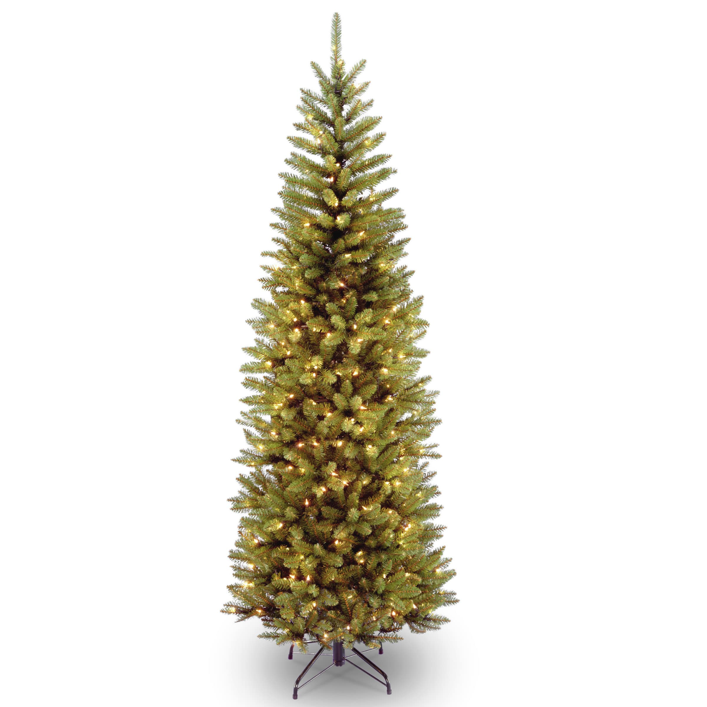 7.5 ft. Pre-lit Kingswood Fir Pencil Artificial Christmas Tree, Clear Lights. img. img Buy the