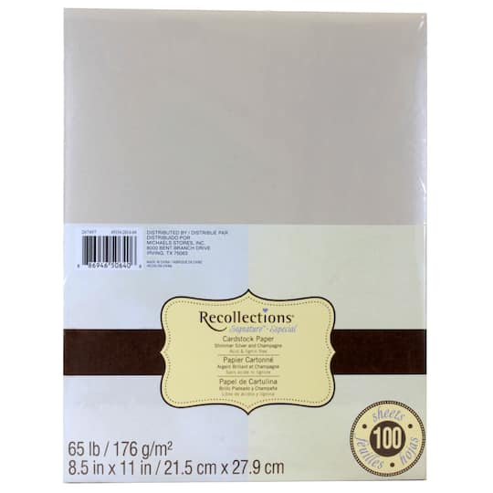 f970a5b59cc0ae Recollections® Signature Shimmer Cardstock Paper Duo