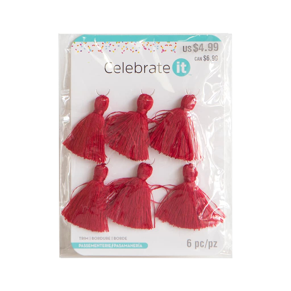 Shop for the Red Mini Tassels By Celebrate It™ at Michaels