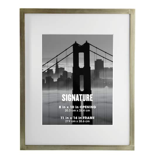 Shop For The Silver Signature Frame With Mat By Aaron
