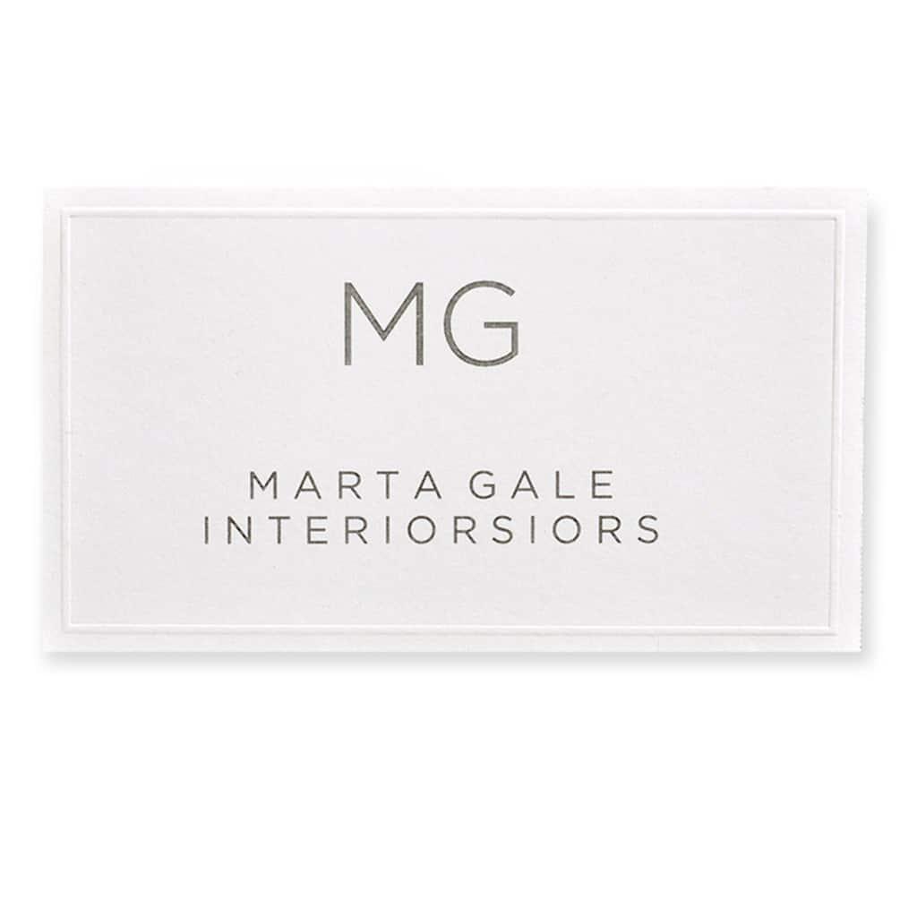 Gartner Studios White Embossed Printable Business Cards