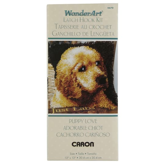 Wonderart Latch Hook Kit Puppy Love