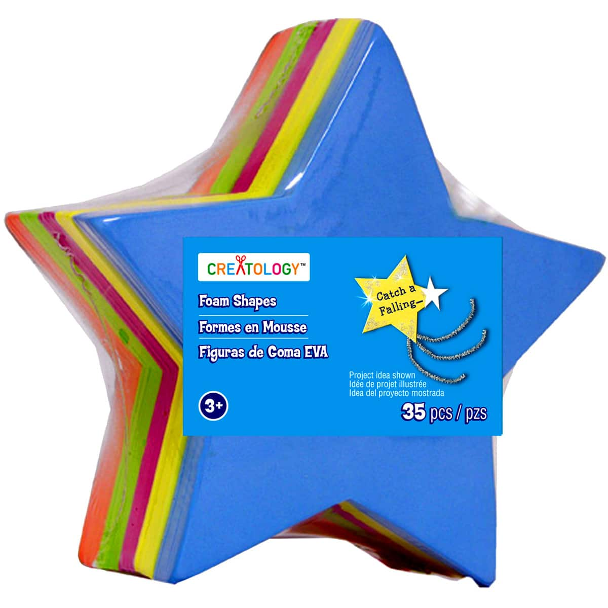 """100 Star Plastic Charms 3//4/"""" Kids Craft Beads Red Blue Yellow and Green"""