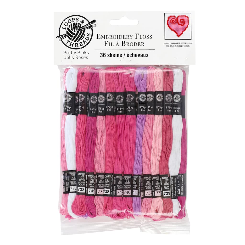 Buy The Pretty Pinks Embroidery Floss By Loops Threads At Michaels