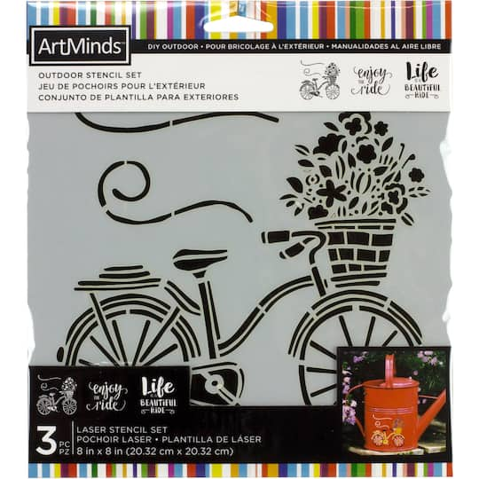 Buy The Bicycle Outdoor Laser Stencils By Artminds At