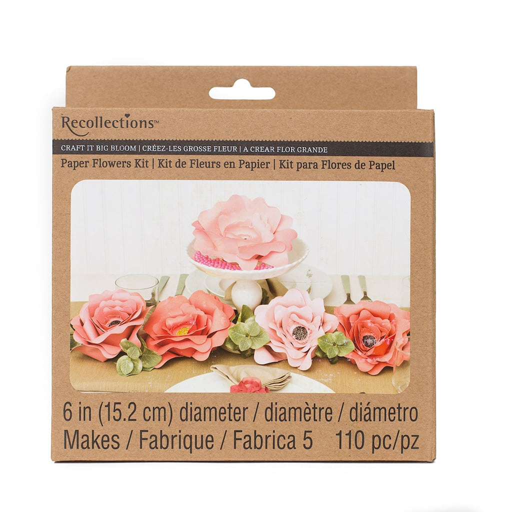 Recollections Craft It Big Bloom 6 Paper Flowers