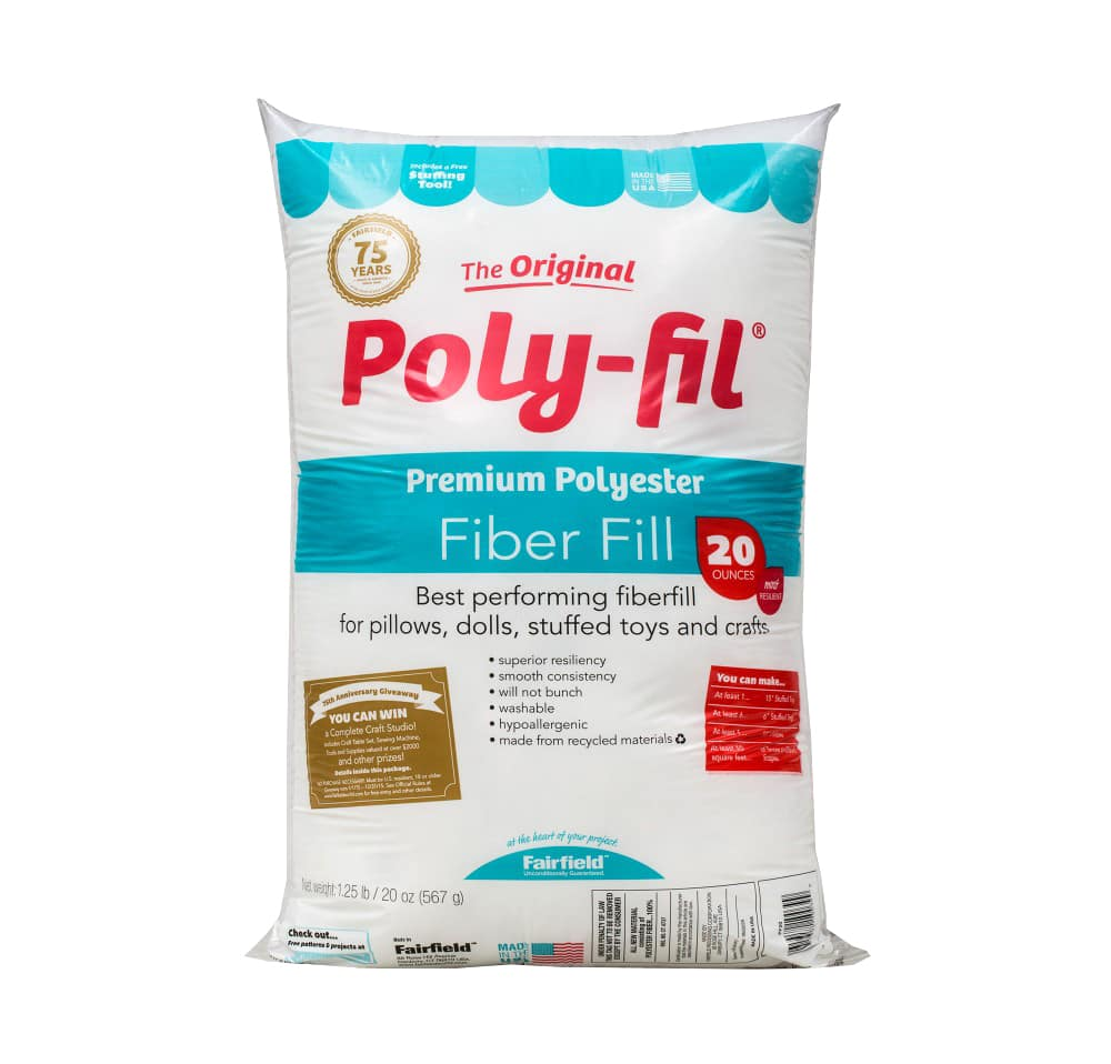 16 Oz Poly Fill Premium Stuffing Polyester Fiberfill RECYCLED Pillow Toy White