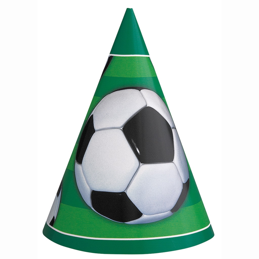 bcb791234760ad 3D Soccer Party Hats, 8ct