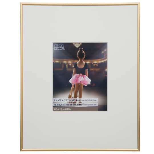 Shop For The Gold Aluminum Frame By Studio Décor 8 X 10 At