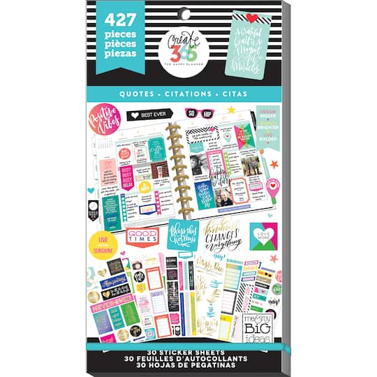 Create 365 The Happy Planner Quotes Value Pack Stickers