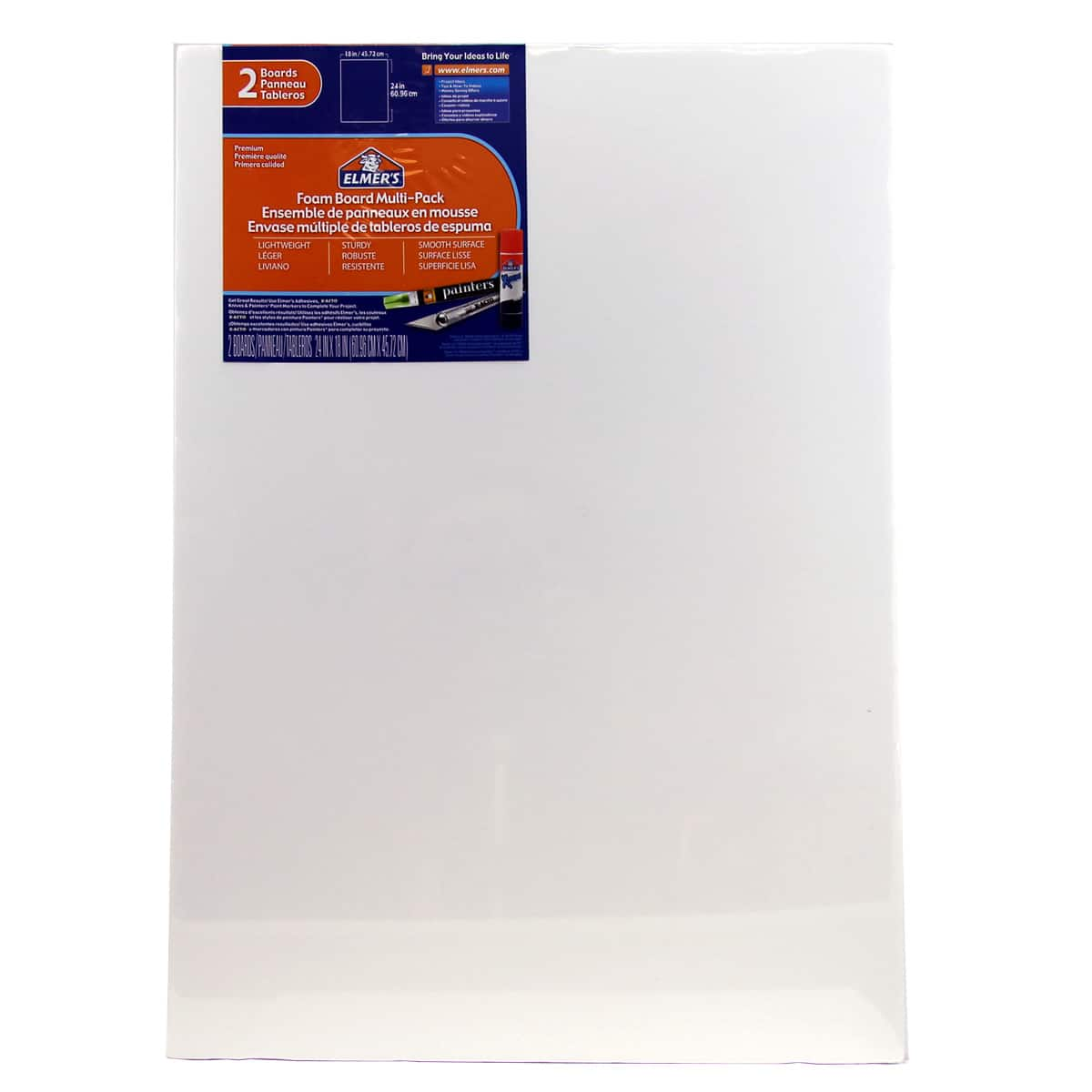 2//PK 18 x 24 Pre-Cut White Foam Board Sheets 6 Packs
