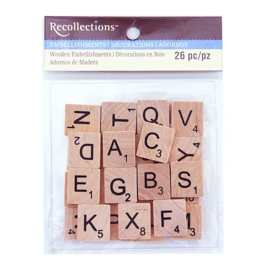 Wooden Letter Tiles By Recollections