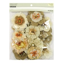Shop For The Natural Burlap Fabric Flower Embellishments By