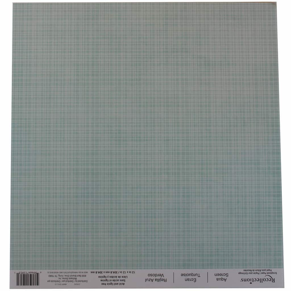 Buy The Aqua Screen Scrapbook Paper By Recollections At Michaels