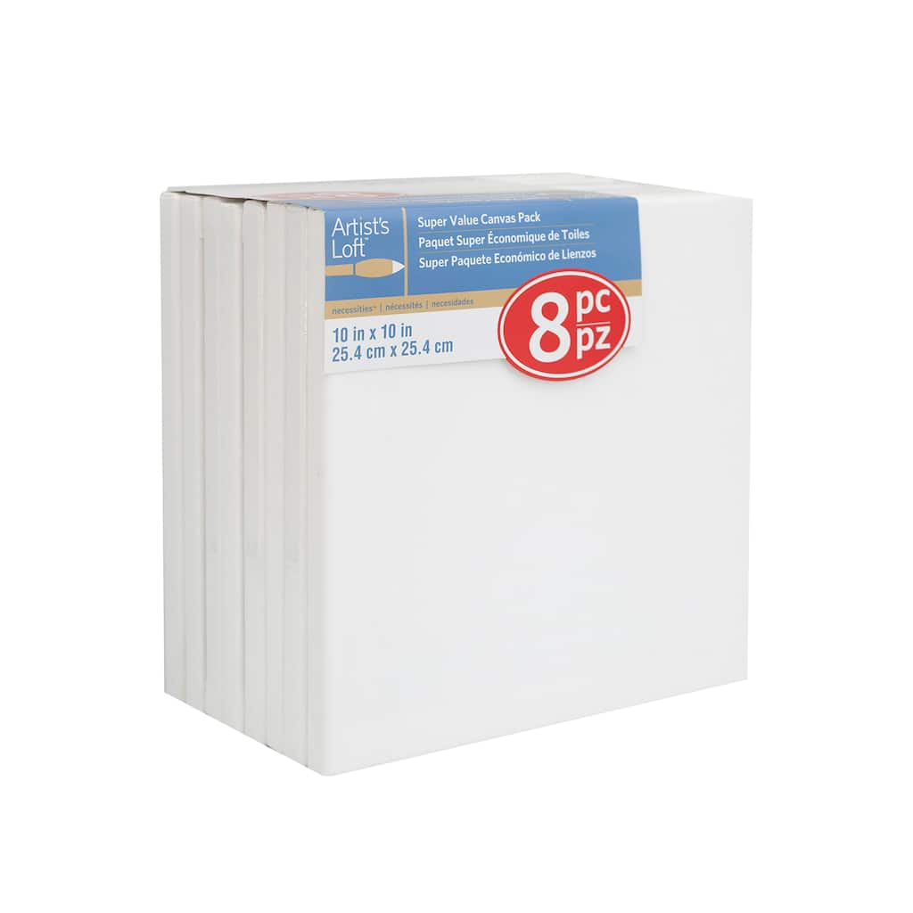 shop for the necessities super value canvas pack by artist s loft