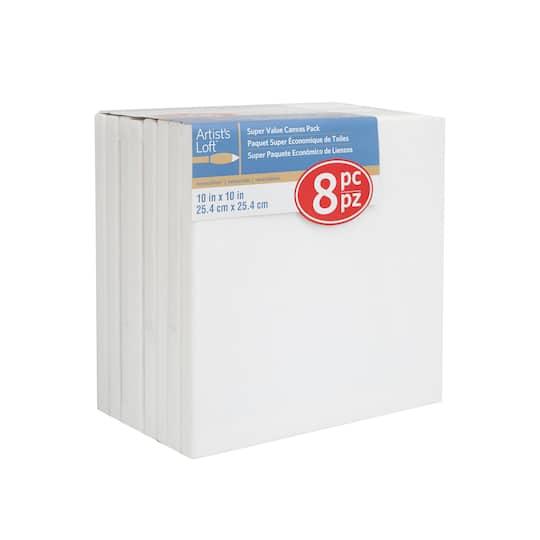8 Pack 10 X Super Value Canvas By Artist S Loft Necessities