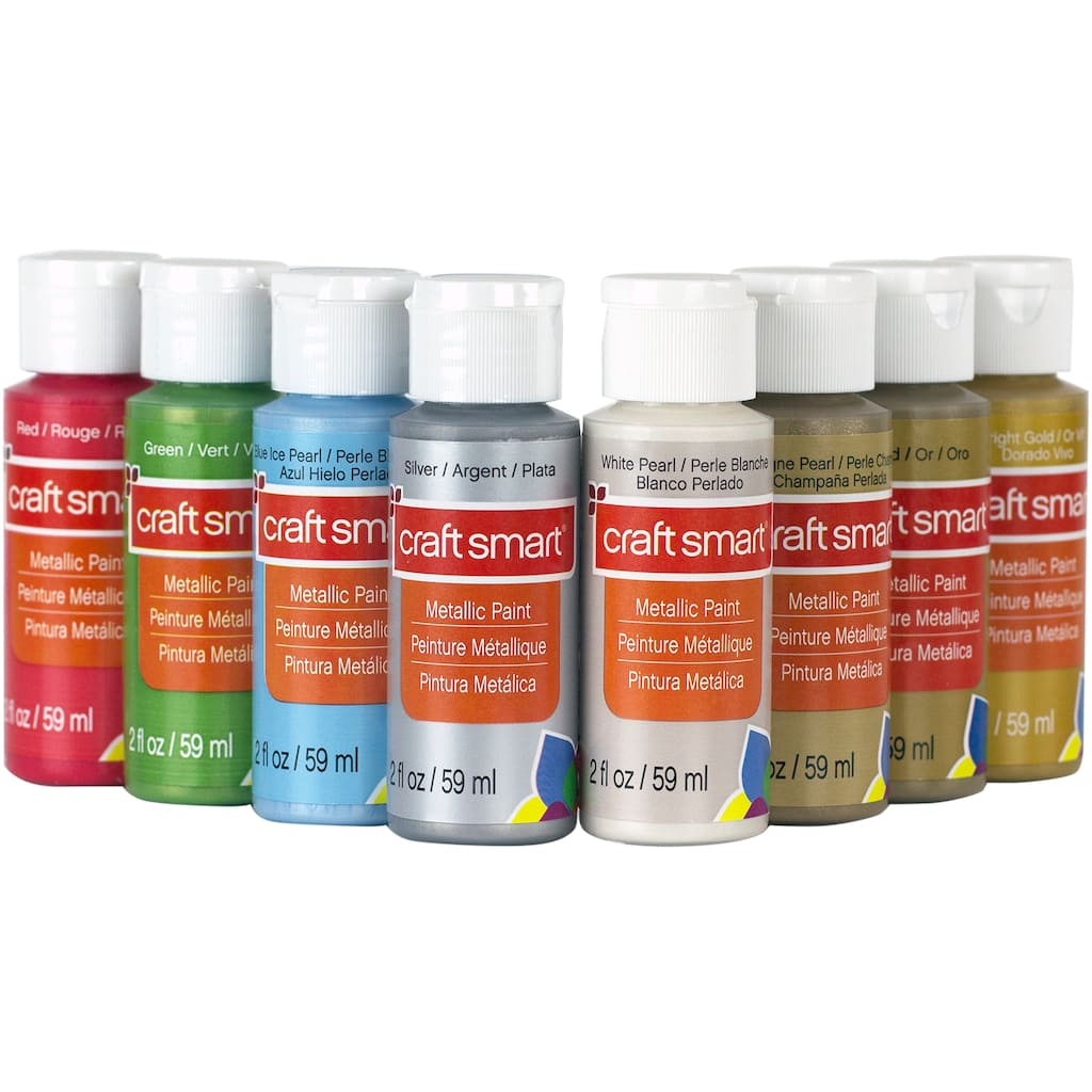 Find the Metallic Acrylic Paint Value Set By Craft Smart® at Michaels
