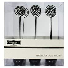 Celebrate It Occasions Place Card Holders Black