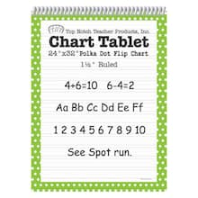"24"" x 32"" Lime Green Polka Dot Chart Tablet, 1.5"" Ruled"